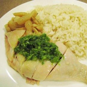 元一小館「餐海南雞飯」シンガポールチキンライス