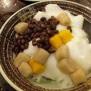 鮮芋仙「招牌杏仁冰」 杏仁かき氷