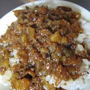 「魯肉飯」 煮込み豚肉かけ飯